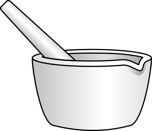 Mortar With Pestle clip art Free vector in Open office drawing svg.