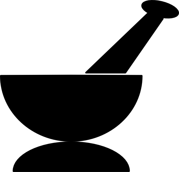 Mortar And Pestle clip art Free vector in Open office drawing svg.
