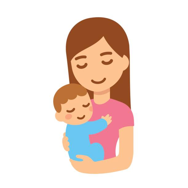 Best Mother And Baby Illustrations, Royalty.
