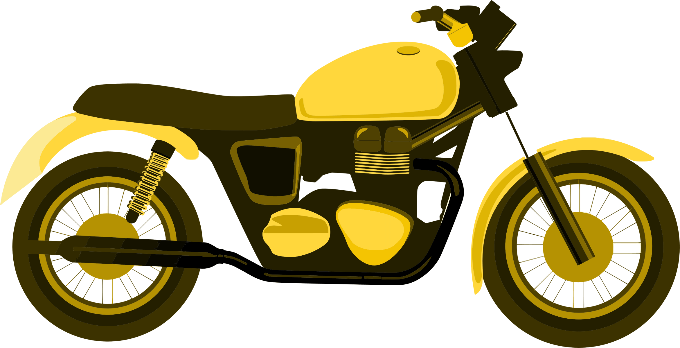 HD Granny On Motorcycle Clipart.