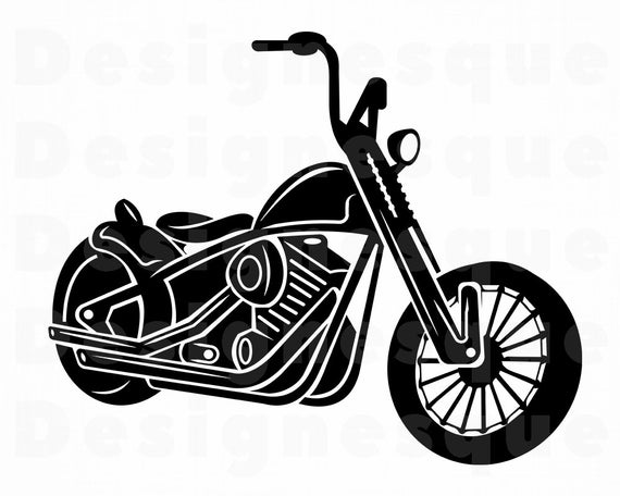 Motorcycle #18 SVG, Motorcycle SVG, Motor Bike Svg, Motorcycle Clipart,  Motorcycle Files for Cricut, Cut Files For Silhouette, Dxf, Png, Eps.