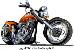 Motorbike Clip Art.