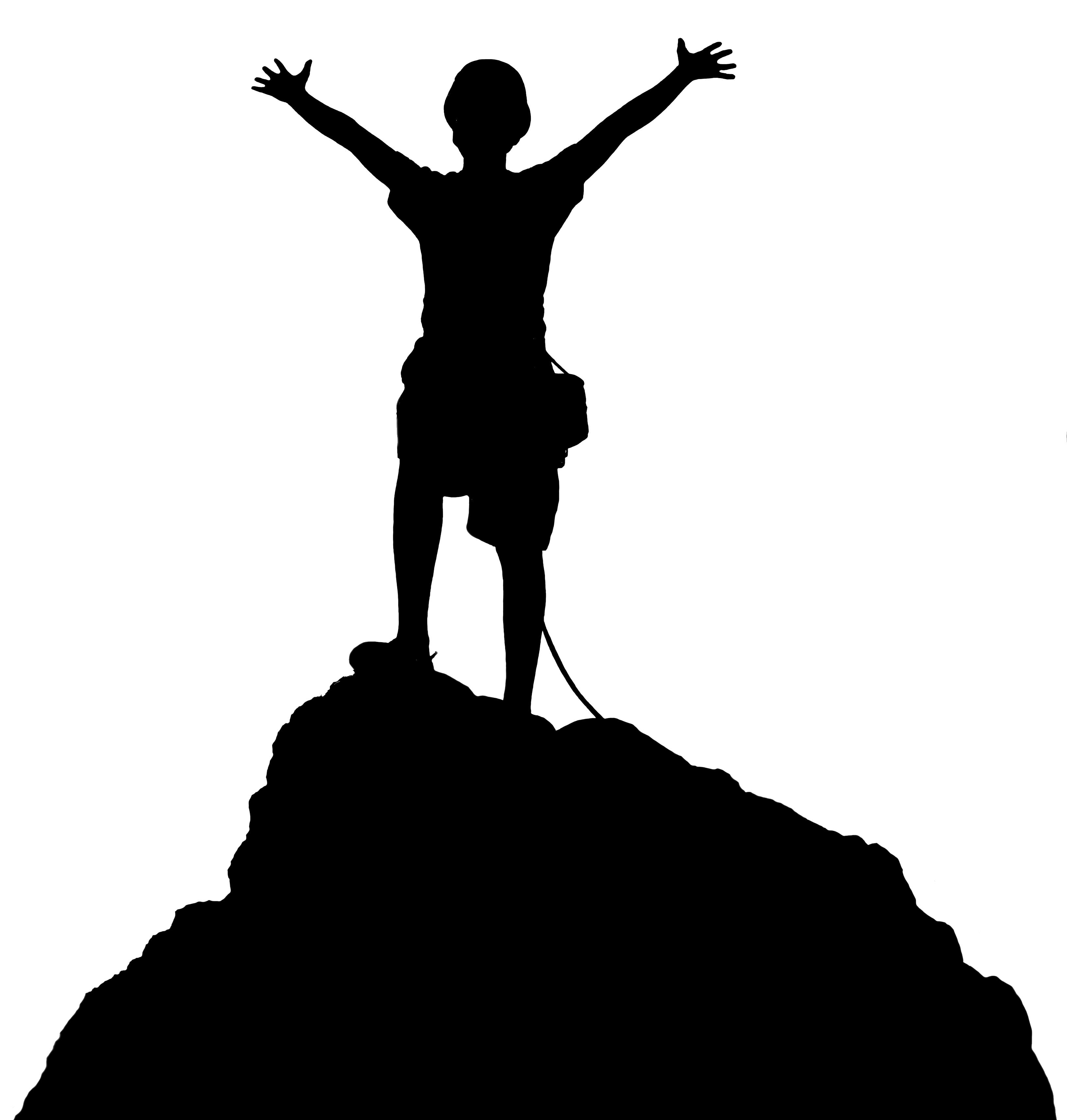 Mountain Climber Clipart.