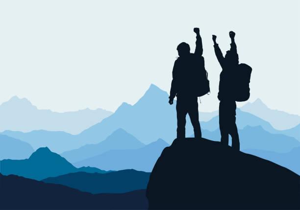 Best Mountain Climbing Illustrations, Royalty.
