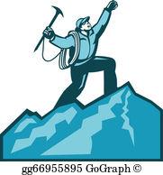 Mountain Climber Clip Art.