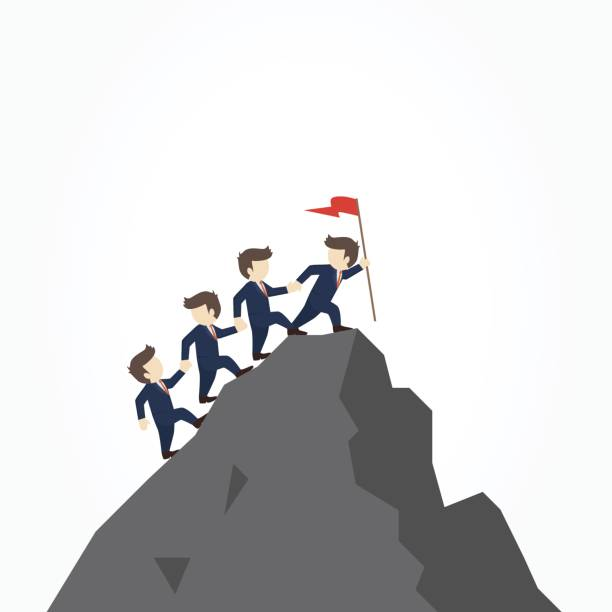 Best Mountain Climbing Team Illustrations, Royalty.