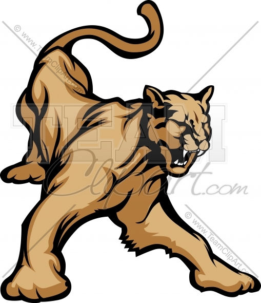 Cougar Clipart Image. Easy to Edit Vector Format..