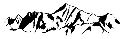 Collection of Mountain range clipart.