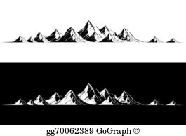 Mountain Range Clip Art.