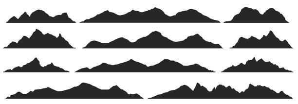 Best Mountain Range Illustrations, Royalty.