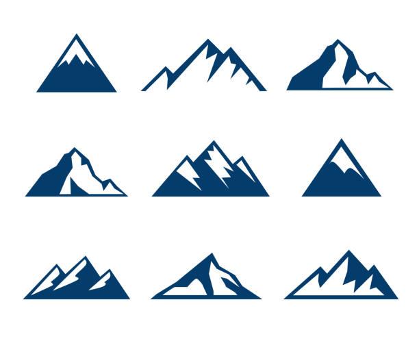 Best Mountain Peak Illustrations, Royalty.