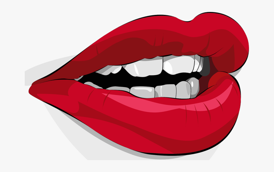 Curve Lips Clipart.