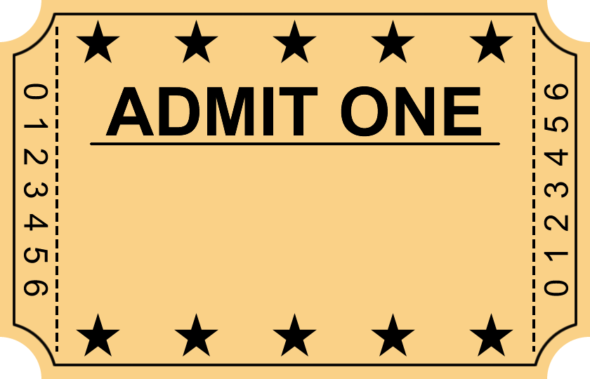 58 Awesome movie ticket outline clip art.