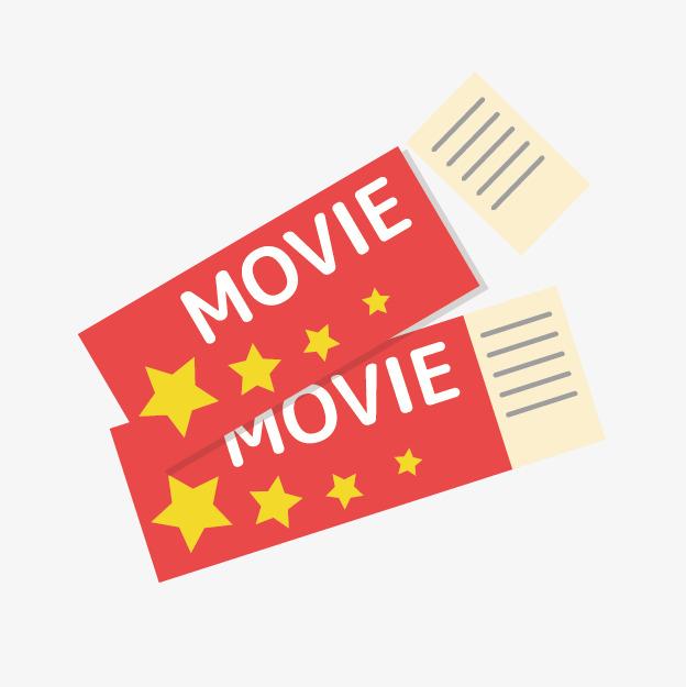 Cartoon Movie Tickets, Cartoon Clipart, Movie Clipart, Red Movie.