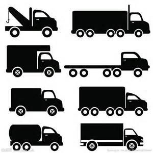 Moving Truck Clip Art Black and White.
