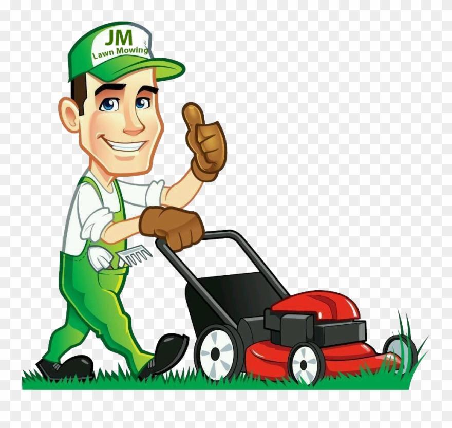 Clip Art Free Library Gardener Clipart Lawn.