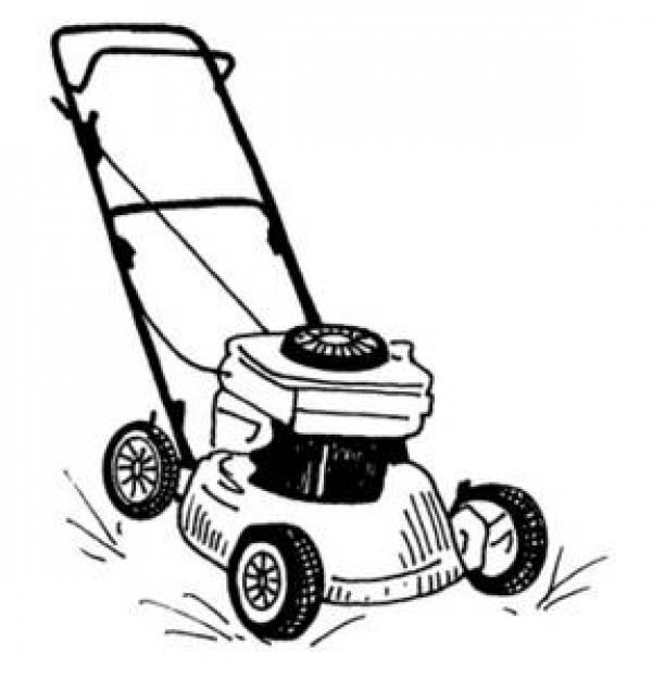 Lawn mowing clipart black and white, Free Download Clipart.