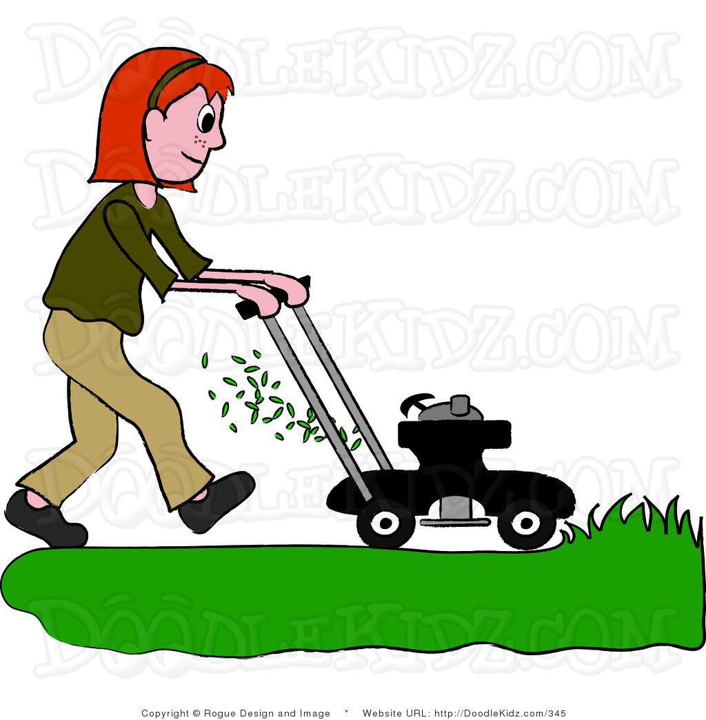 mowing clipart.