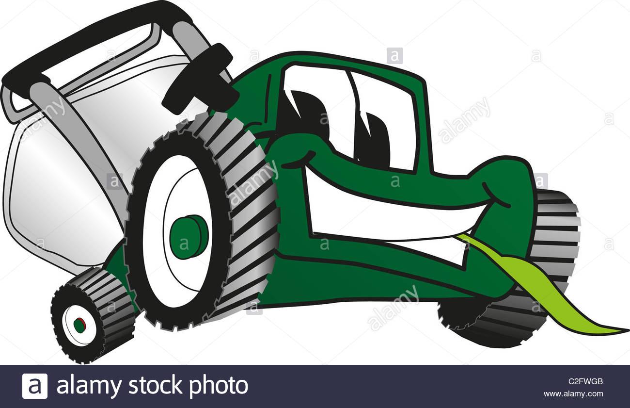 Cartoon Lawn Mower Clip Art Stock Photo: 35999387.