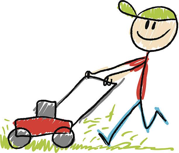Best Lawn Mower Cartoon Illustrations, Royalty.