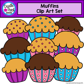 Muffin Clip Art & Worksheets.