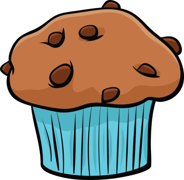 Best Chocolate Chip Muffins Illustrations, Royalty.