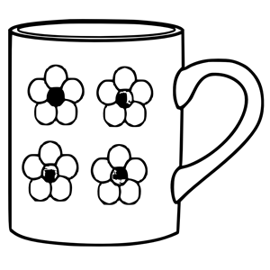 Mug with flowers clipart, cliparts of Mug with flowers free download.