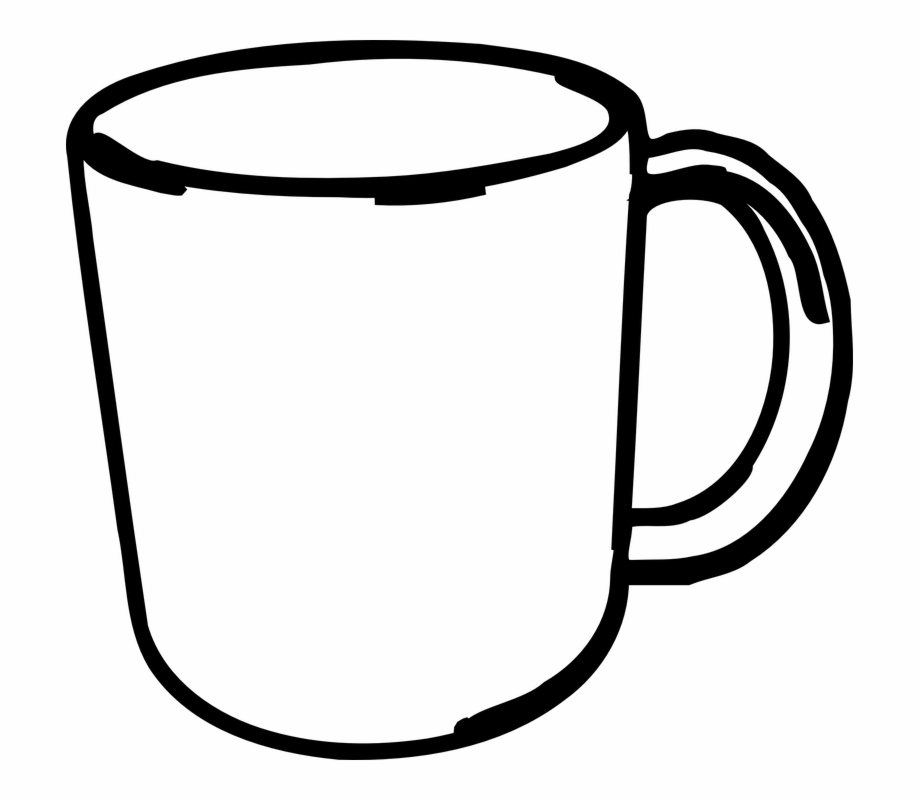 Clip Art Black And White Mug, Transparent Png Download For Free.