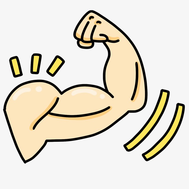 Cartoon Show Muscle, Cartoon Clipart, Muscle Clipart, Cute Cartoon.