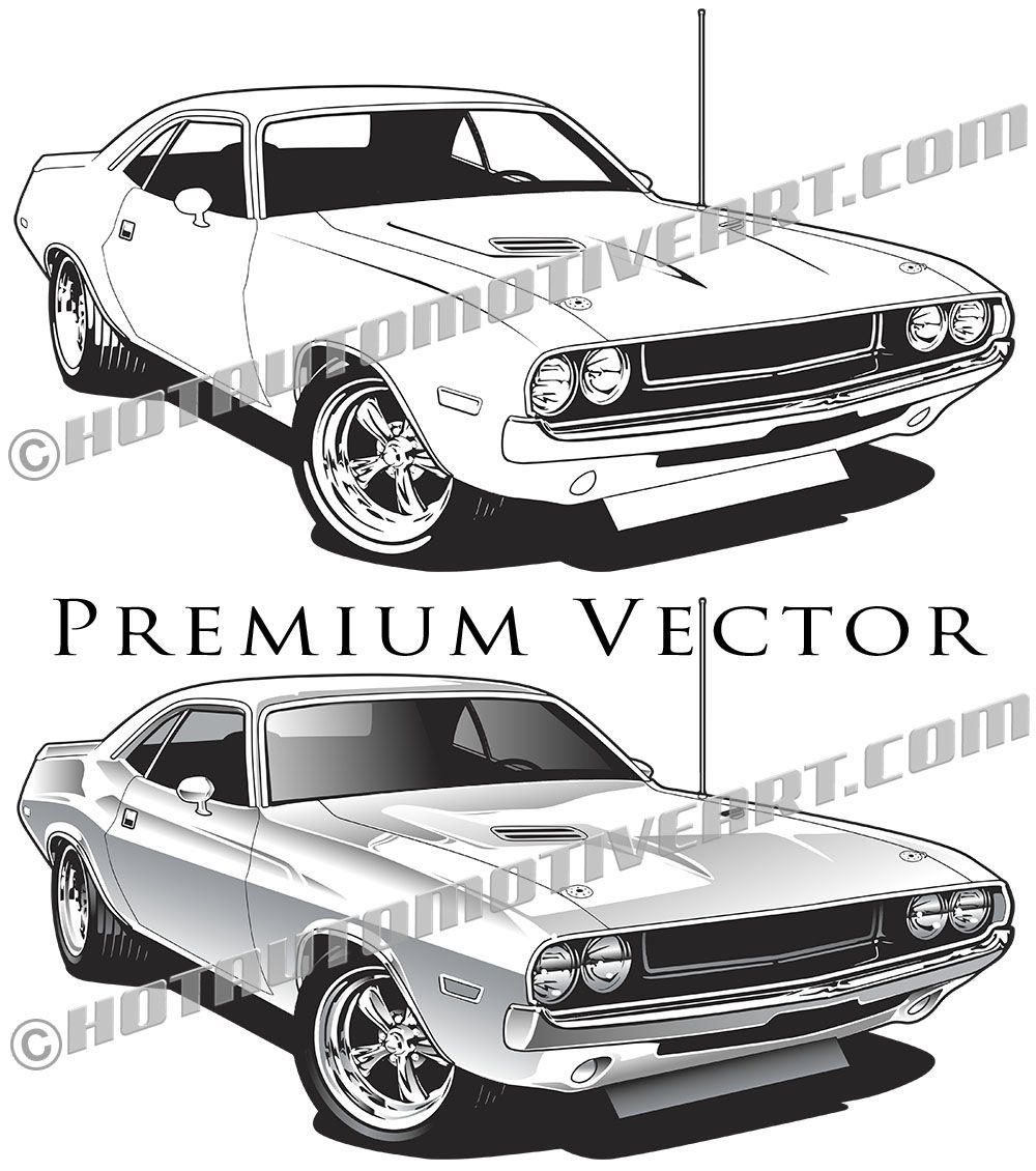 High quality muscle car vector clip art for immediate download.