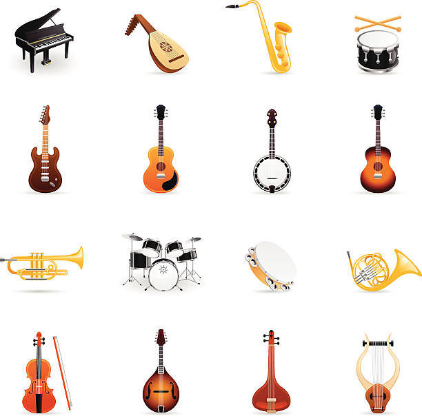 Best Musical Instrument Illustrations, Royalty.