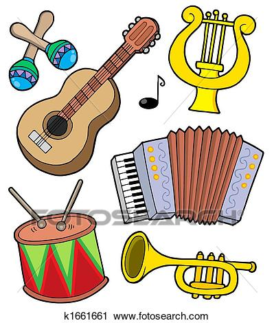 Music instruments collection 1 Clip Art.