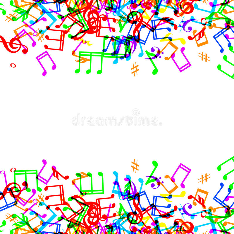 Music Notes Border Frame Stock Illustrations.