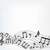 music notes border.