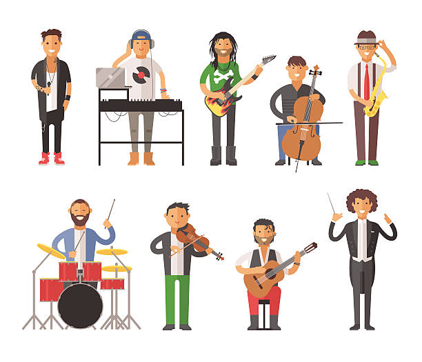 Best Musician Illustrations, Royalty.