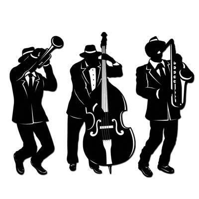 Jazz Silhouettes Clip Art.