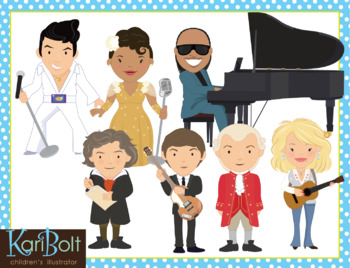 Musicians and Composers Clip Art.