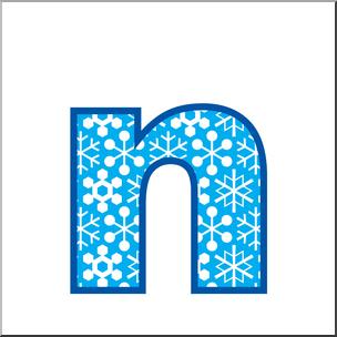 Clip Art: Alphabet Set 02: N Lower Case Color I abcteach.com.