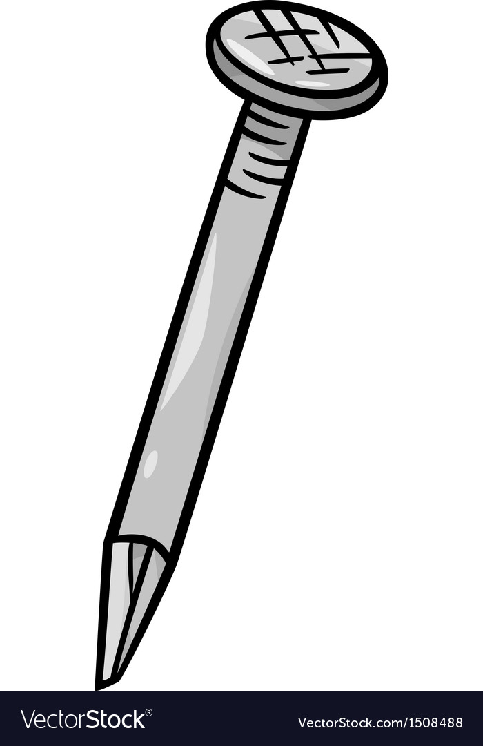Nail clip art cartoon.