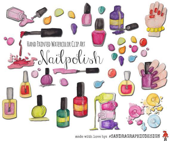 Nail polish clip art: