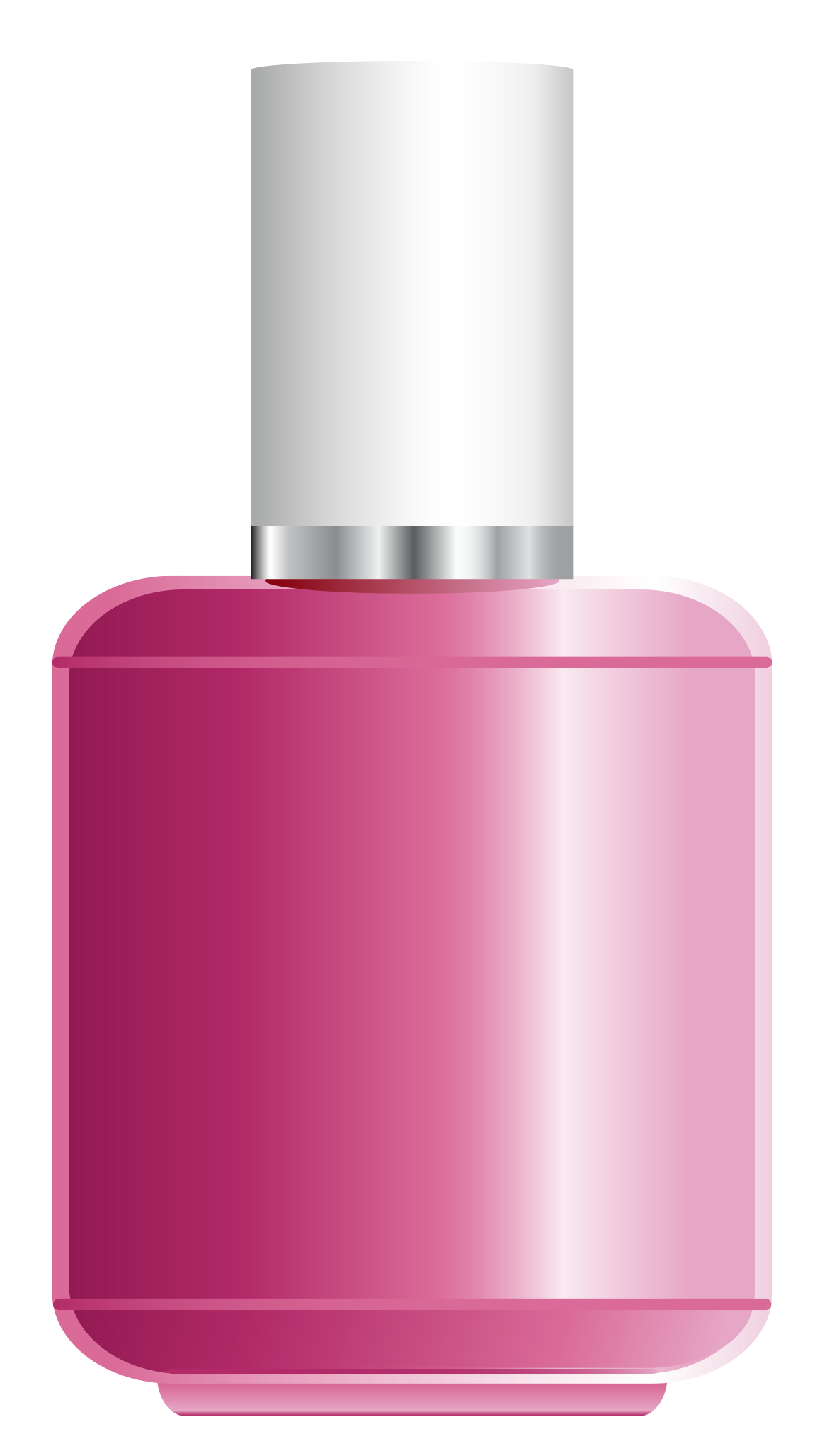Pink Nail Polish PNG Clipart Picture.