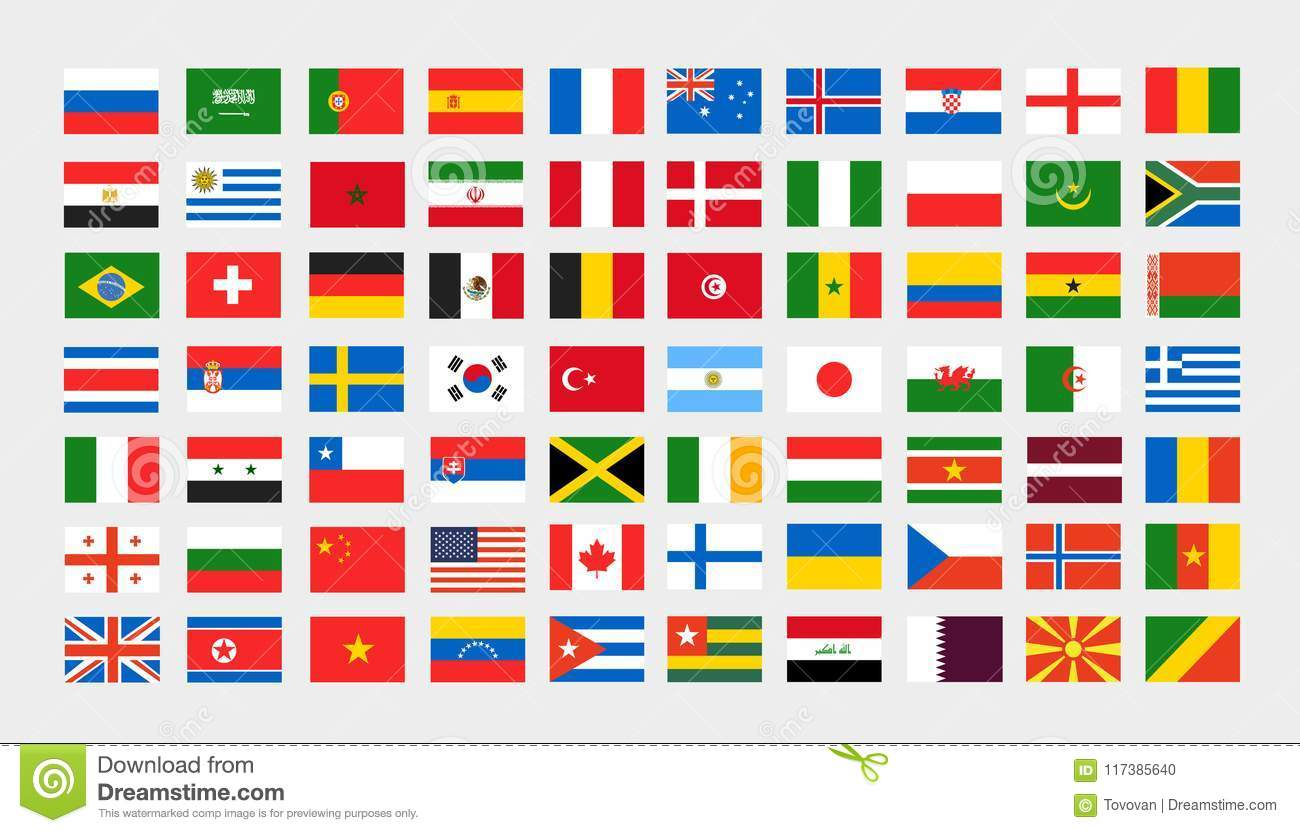 Different National Flags Clip.