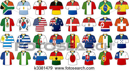 Uniforms of national flags Clip Art.