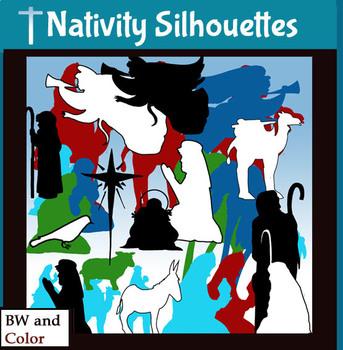 Nativity Silhouette Clip.