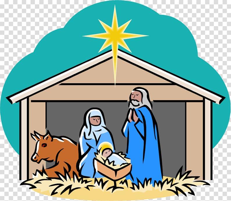 Nativity scene Nativity of Jesus Holy Family , nativity transparent.