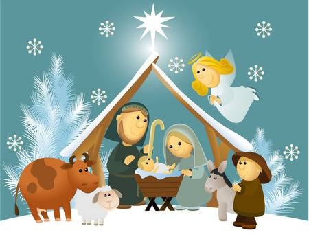 5,491 Nativity Scene Stock Vector Illustration And Royalty Free.