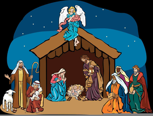 Free Clipart Nativity Scenes.