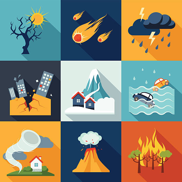 Best Natural Disaster Illustrations, Royalty.