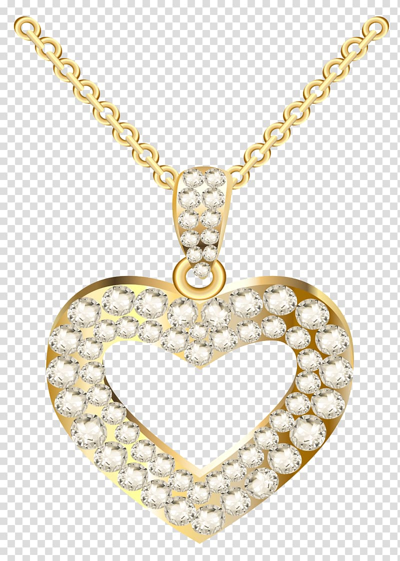 Necklace Heart Jewellery Pendant , Golden Heart Necklace with.