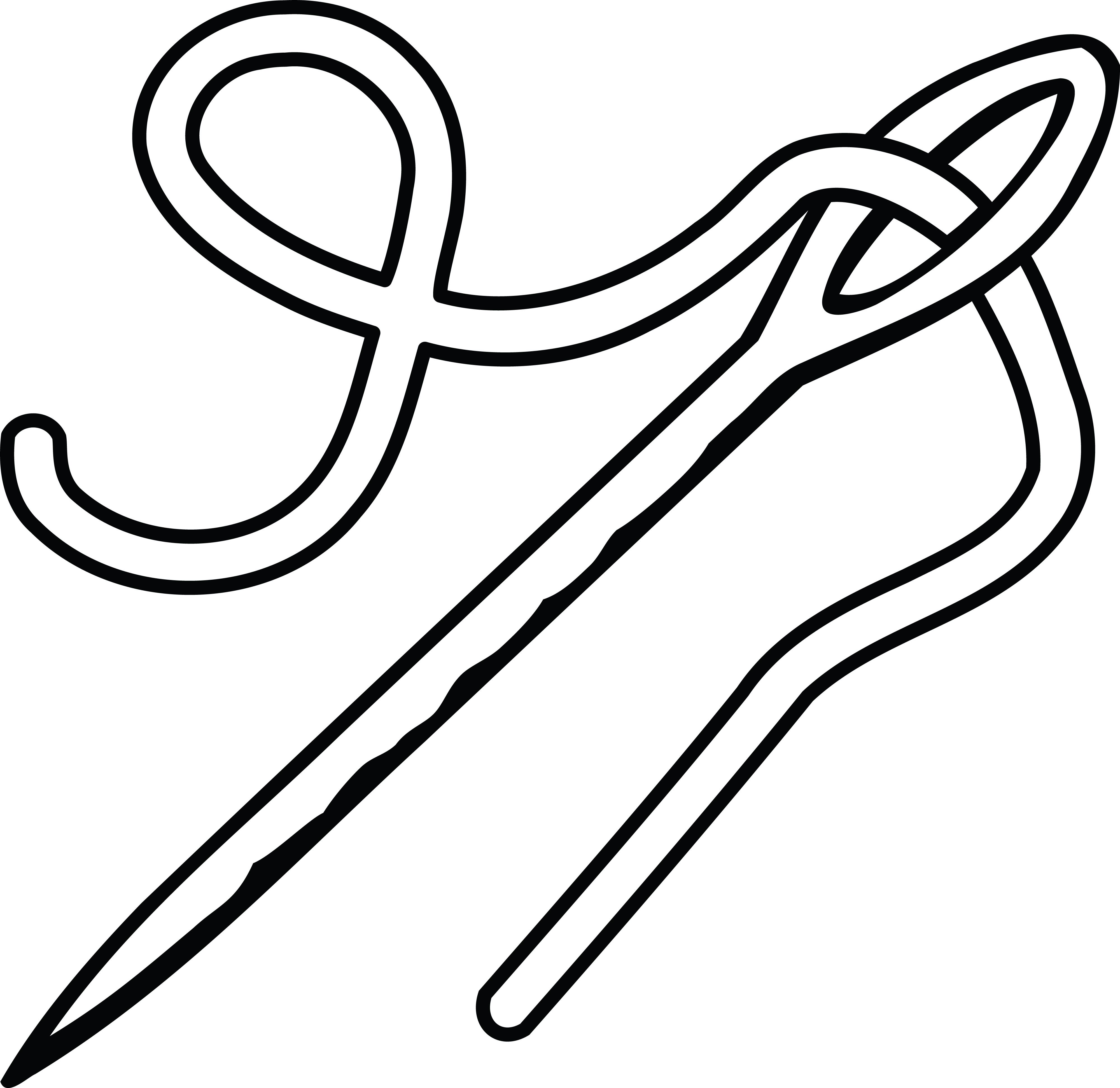 Free Clipart Of A needle and thread.